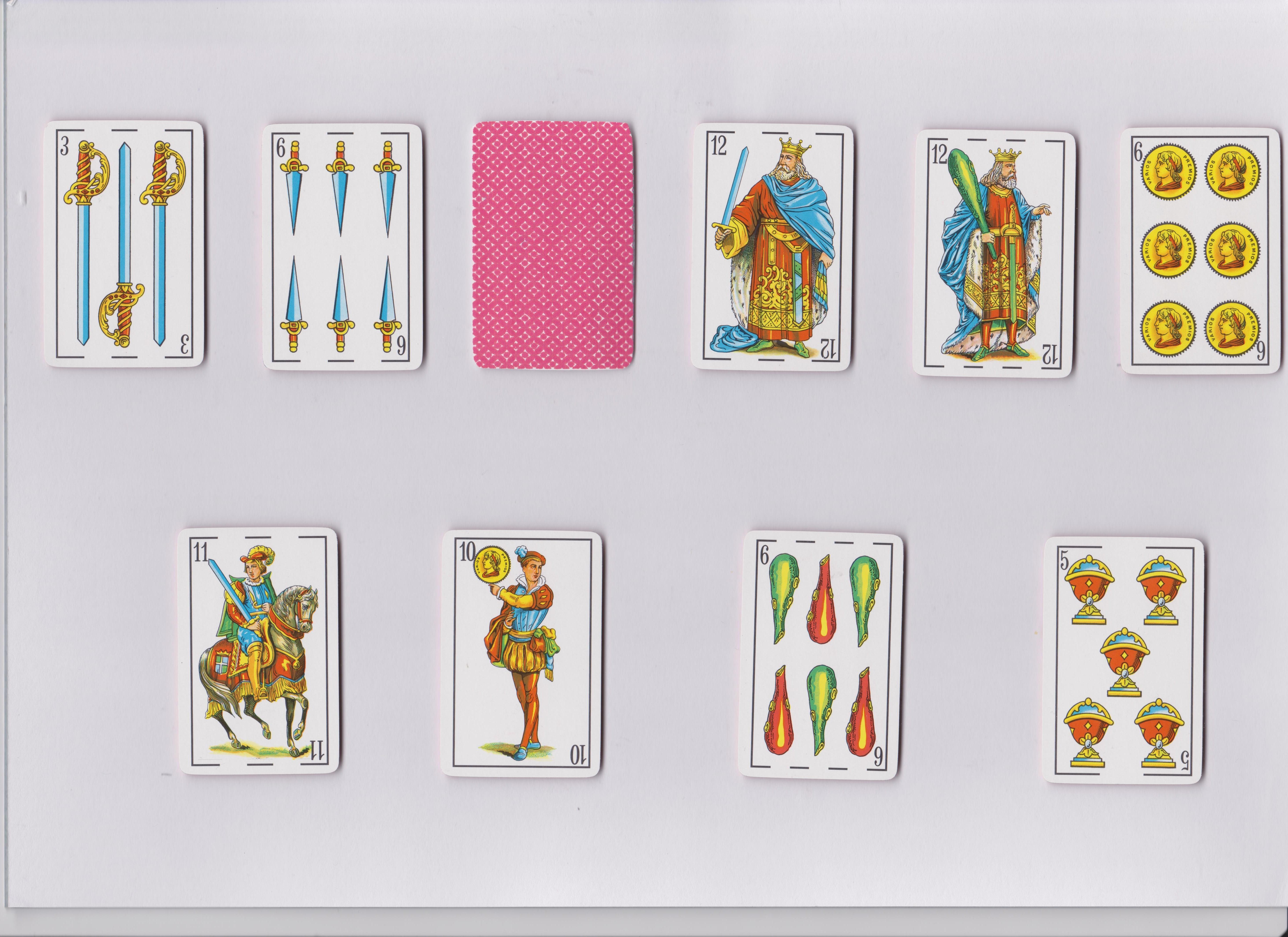 test de naipes 12 baraja española de 40 cartas en tests gratis com